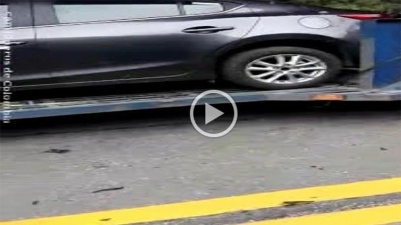 Imprudencia de conductor en la vía Cajamarca - Calarcá por