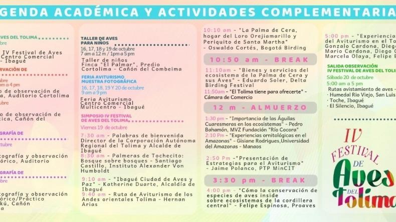 Esta es la programación del cuarto Festival de Aves del Tolima que ...