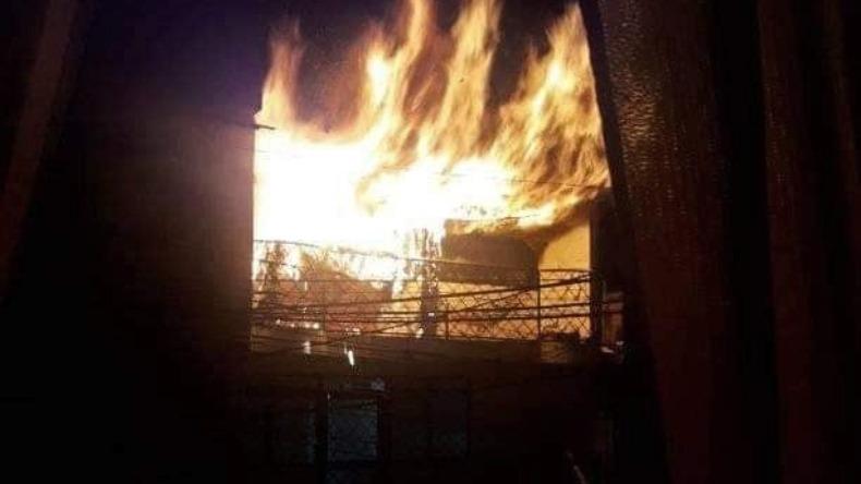 Voraz incendio en una casa del barrio Tulio Varón en Ibagué