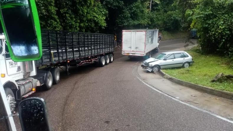 Fuerte accidente de tránsito en la vía Fresno -Mariquita
