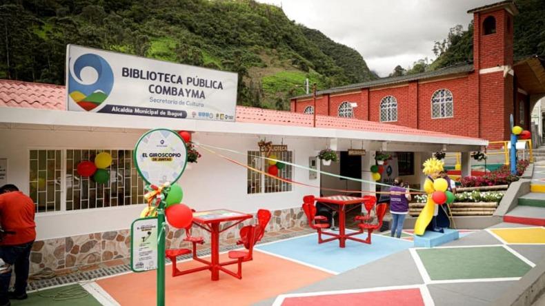 Ibagué Limpia remodeló la Biblioteca Combayma del corregimiento de Juntas