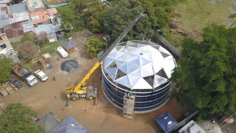 Finaliza la instalación del tanque sur del Acueducto Complementario