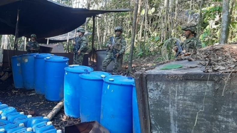 Dos laboratorios de coca en el Putumayo son destruidos por militares del Tolima