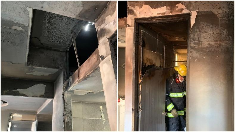 Emergencia en el conjunto residencial Yarumo de Ibagué por incendio en uno de los apartamentos