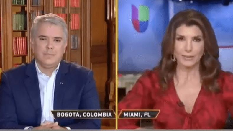 Periodista le dijo 'títere' al presidente Duque durante una entrevista