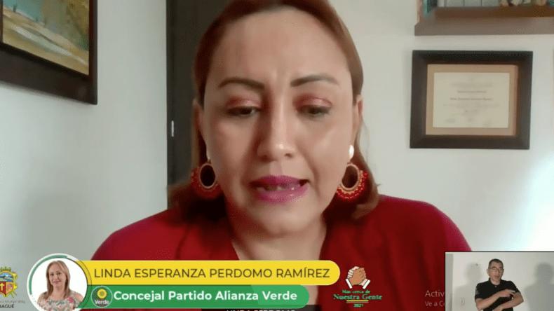 Concejal Linda Perdomo arremete contra la Personera (e) de Ibagué