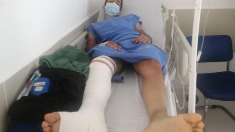 Julián Rodríguez fue atropellado por un patrullero de la Policía de Ibagué