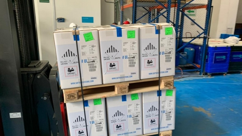 Llegaron otras 546.390 vacunas de Pfizer a Colombia