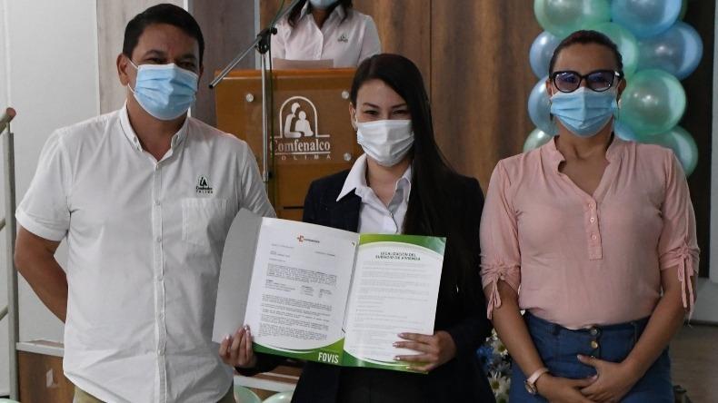 Comfenalco Tolima entregó el Subsidio Familiar de Vivienda a 274 afiliados