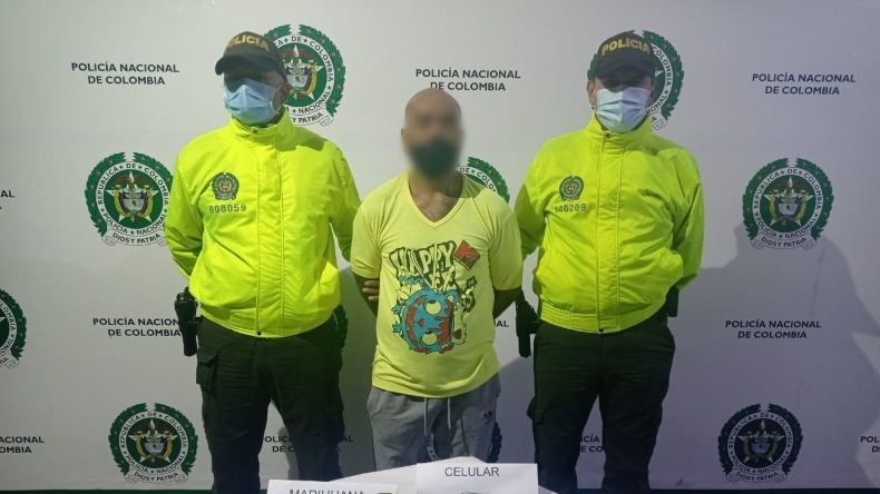 Un hombre capturado y 152 dosis de marihuana incautadas en allanamiento de la comuna Cinco de Ibagué