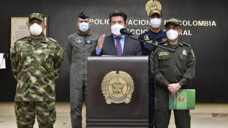 Mindefensa dice que la fuerza pública de Colombia tiene que ser implacable contra el vandalismo