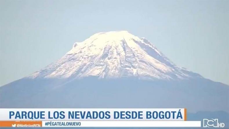 Así se vieron los nevados del Tolima, Santa Isabel y Ruíz desde Bogotá