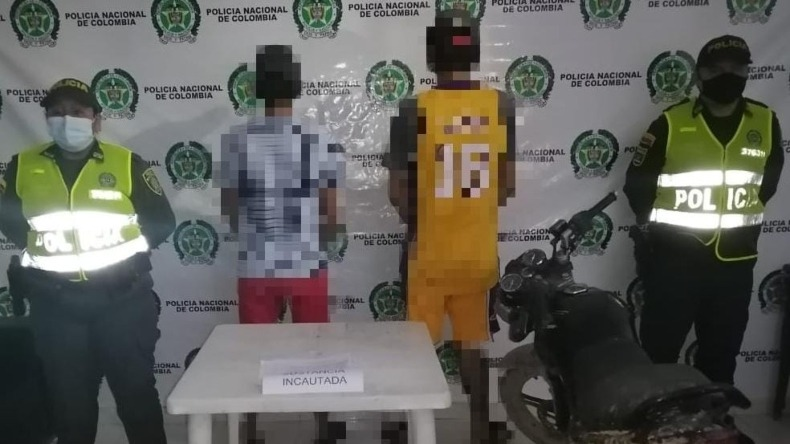 Capturan a dos sujetos con 50 gramos de bazuco en el municipio de Cunday