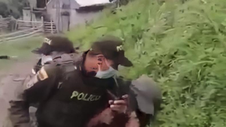 Campesinos de Herveo y policías se enfrentaron con machetes y bolillos