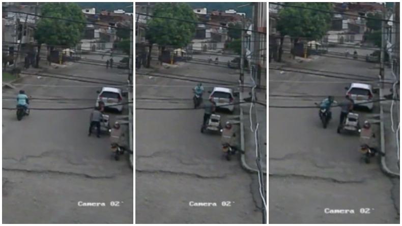 Motociclista le rapó el celular a un ciudadano a plena luz del día en Ibagué