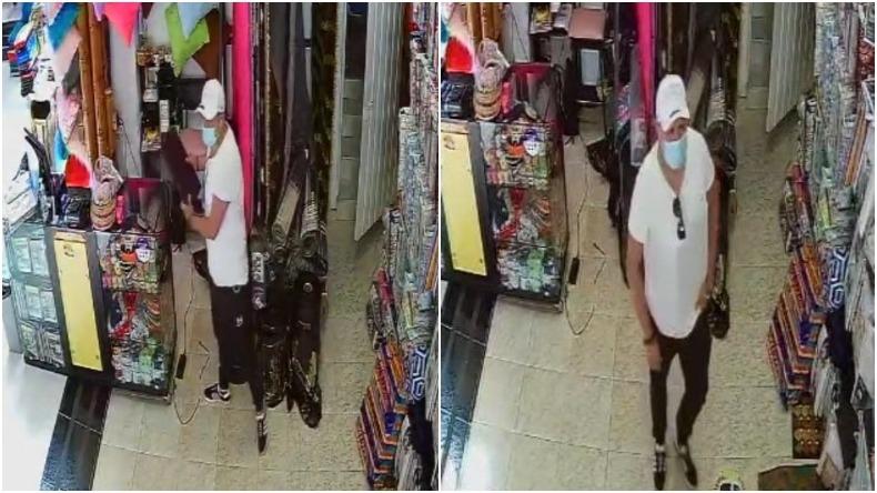 En video: Hombre habría aprovechado descuido para robar un computador y un celular en Ibagué