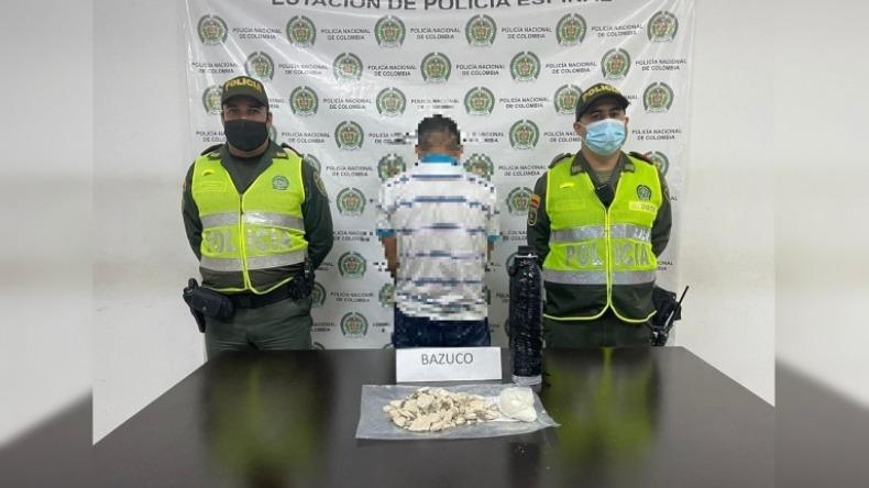 Capturaron a un hombre con 2 mil dosis de bazuco en el terminal de transportes de El Espinal