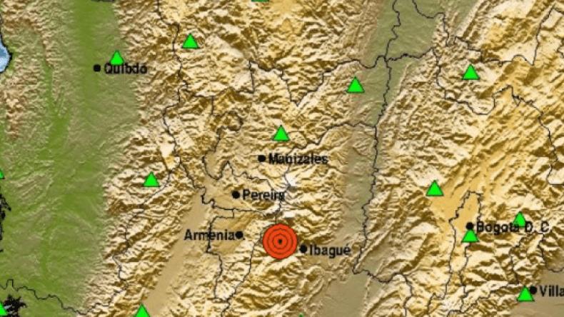 Servicio Geológico Colombiano reportó temblor en Ibagué