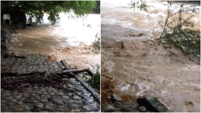 Doce familias afectadas por creciente de tres ríos en Venadillo