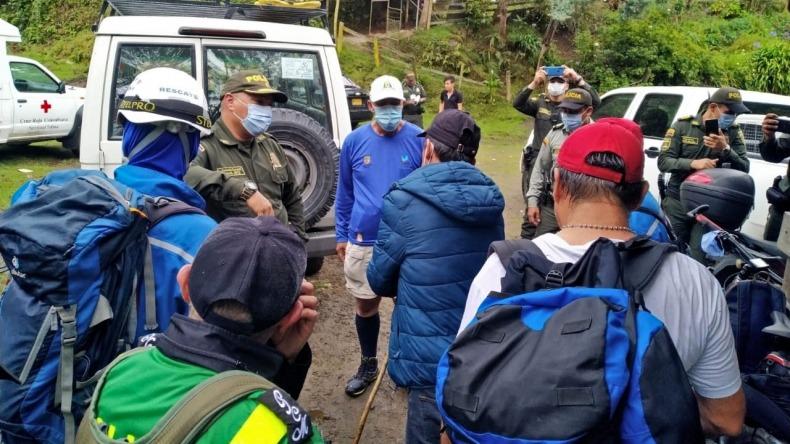 Organismos de socorro encontraron a ambientalistas del Cañón del Combeima que habían desaparecido