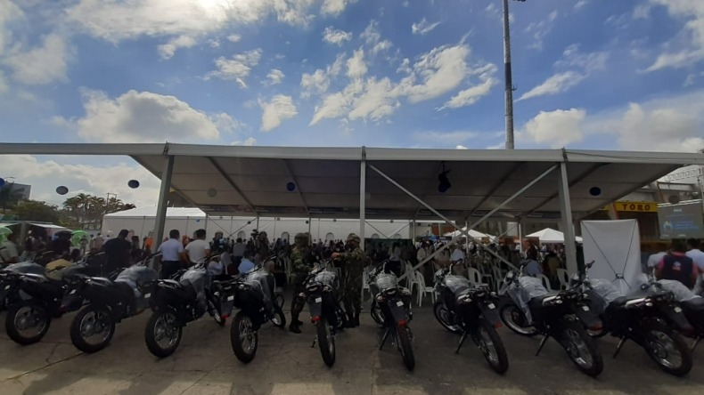 Entregarán 18 motocicletas de alto cilindraje al Ejército Nacional