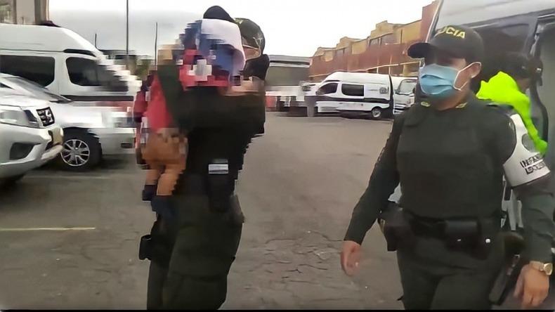 Rescataron en El Espinal a una bebé que había sido secuestrada en Bogotá