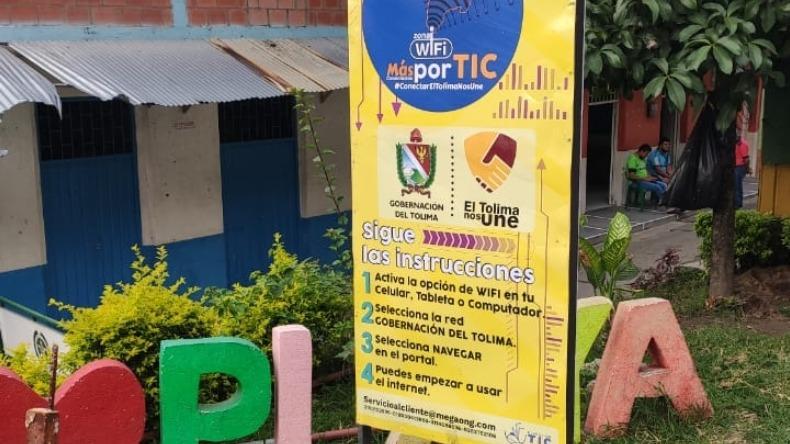 Invierten $5.000 millones para instalar 143 zonas wifi en el Tolima