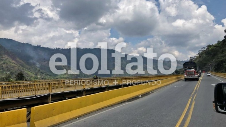 Se habilitó el paso en la vía Ibagué – Cajamarca