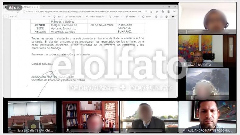 Exsecretario de Educación rindió testimonio en el juicio oral contra exgobernadores del Tolima