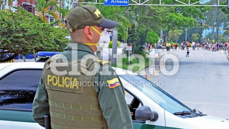 Patrullero de la Policía fue atracado por delincuentes en Ibagué