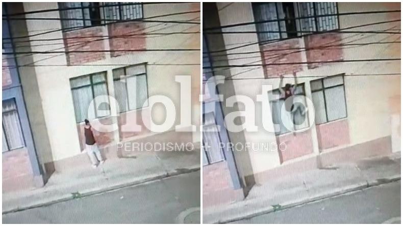 Delincuente fue sorprendido mientras escalaba un edificio en el barrio Departamental