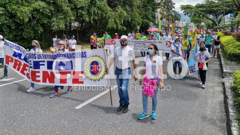 Inició la marcha en conmemoración por el Día del Trabajo en Ibagué