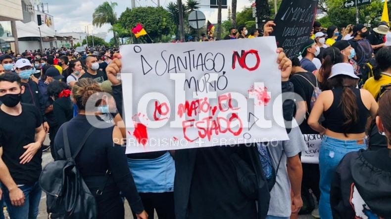 Asistencia masiva a plantón en la calle 60 con Quinta de Ibagué