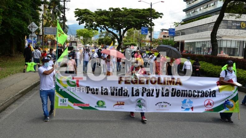Centrales sindicales del Tolima dicen que el vandalismo no está relacionado a la resistencia civil