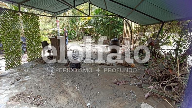 Restaurante 'La Puerta', del Cañón del Combeima, quedó destruido en un 80%