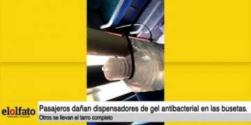 Embedded thumbnail for ¡Lo que faltaba! Algunos usuarios dañan o se roban dispensadores de gel antibacterial en las busetas de Ibagué