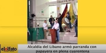 Embedded thumbnail for Alcaldía del Líbano armó parranda con papayera en plena cuarentena