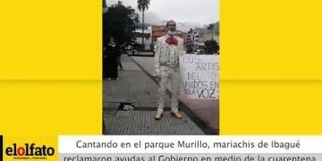 Embedded thumbnail for Cantando en el parque Murillo Toro, mariachis de Ibagué reclamaron ayudas en medio de la cuarentena