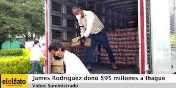 Embedded thumbnail for Cerca de $100 millones en ayudas entregó James Rodríguez para Ibagué y el Hospital Federico Lleras