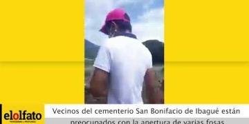 Embedded thumbnail for Vecinos del cementerio San Bonifacio de Ibagué están preocupados con la apertura de varias fosas