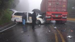 Grave accidente deja cinco personas heridas en limites de Tolima y Caldas