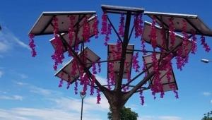 instalan en Ibagué el primer árbol solar de energía renovable del departamento