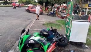 Tres heridos por choque entre motocicletas en la carrera Quinta de Ibagué