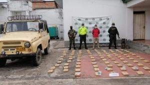 45 kilos de marihuana fueron incautados en vereda de Chaparral