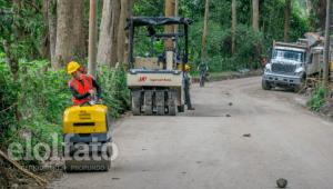 Lluvias y paro nacional han retrasado trabajos en la pavimentación de la vía Ibagué - Juntas