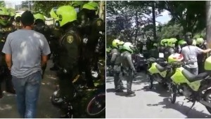Policías detuvieron a jóvenes que intentaron bloquear el viaducto del Sena en Ibagué