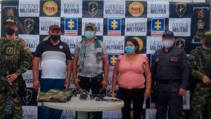 Capturan a integrantes de una banda que alquilaba armas de fuego a criminales en el Tolima