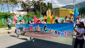 """Inició la Marcha Carnaval """"El rugir de la montaña"""" en Ibagué"""
