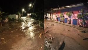Por fuertes lluvias se desbordó la quebrada El Silencio en el corregimiento de Toche