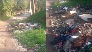 Habitantes de El Limón denuncian que vía que conduce a zona rural se ha convertido en un basurero